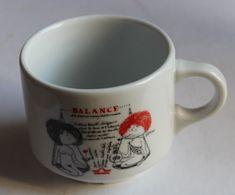 Tasse Signe Astrologique Balance Humour Femme Nue Illustrateur Samyn PILLIVUYT Porcelaine France - Tazze