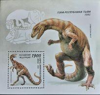 027. TUVA 1995 STAMP M/S PRE HISTORIC ANIMALS. MNH - Touva