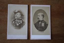 2 Cdv Officiers Généraux Vers 1870 Dont   Général Ulrich Et Denfert - Guerra, Militares