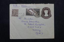 INDE - Entier Postal + Compléments ( Dont JO ) Pour Le Royaume Uni En 1968 - L 63897 - Briefe
