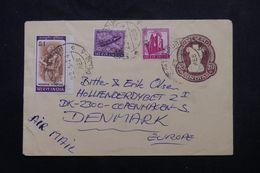 INDE - Entier Postal + Compléments De Calcutta Pour Le Danemark  En 1974 - L 63898 - Briefe