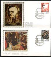 BE   FDC  2060 - 2063   ---   CulturelleTourisme  --  Obl. Bruxelles  --  Z/s  Sur Soie - 1981-90