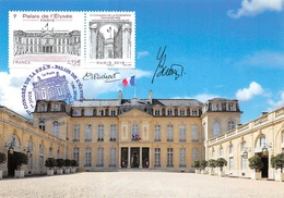FRANCE.CARTE MAXIMUM. N°207499.7/06/2018. Cachet Paris. Congres De La FFAP. Palais élysée. Signé Perchat - Cartoline Maximum