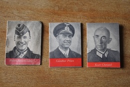 3 Mini Livres WH Propagande  Héros  TAG Der WEHRMACHT 1942 1943 - 1939-45