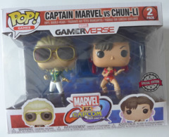 2 Figurines Pop! Game Marvel Vs Capcom -  Captain Marvel Vs Chun-Li / Special Edition TBE - Gli Eroi Della Marvel