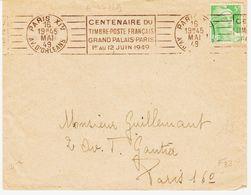 France,  De ParisXIV En 1949, RBV Centenaire Du Tp Au Grand Palais TB - Marcophilie (Lettres)