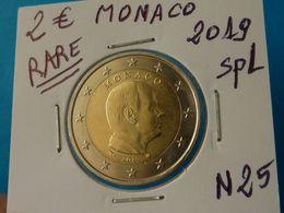 RARE ***  2 EURO MONACO 2019 Spl  ( 2 Photos ) - Monaco
