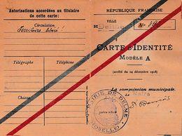 1918 DELME (57) TERRITOIRES LIBERES - CARTE D'IDENTITE - Historische Documenten
