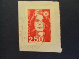 """1989-96 MARIANNE BICENTENAIRE - Adhésif - Oblitéré N°   2720 """" 2.50 Rouge """"  Net 0.30  """"étrechy"""" - 1989-96 Bicentenial Marianne"""
