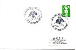 PORC - CHARCUTERIE = 61 MORTAGNE Au PERCHE 1992 =  CACHET TEMPORAIRE Illustré D' Un CUISINIER  ' FOIRE Au BOUDIN' - Marcophilie (Lettres)