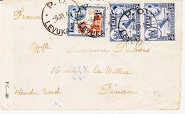 FIDGI En 1945 Pour Dinan, De LEVUKA  Et Bande De Censure  TB - Fidji (...-1970)