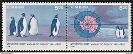 1991 India 30th Anniversary Of The Antarctic Treaty Set (** / MNH / UMM) - Tratado Antártico