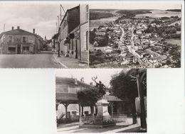 """3 CPSM:DOULEVANT LE CHATEAU (52) MONUMENT AUX MORTS 1938-1945,PLAQUE """"PETIT BEURRE LU LU LEFÈVRE UTILE"""" PLACE,VUE - Doulevant-le-Château"""