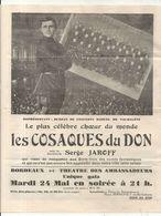 LES COSAQUES DU DON .BORDEAUX . THEATRE DES AMBASSADEURS - Publicités