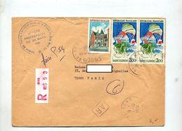 Lettre Recommandée Sens Sur Amboise Florent - Marcophilie (Lettres)