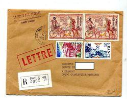 Lettre Recommandée Paris 48 Sur Ramses Thiers Expo - Marcophilie (Lettres)