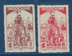"""Indochine YT 227 & 228 """" Fête Du Nam-Giao """" 1942 Neuf* - Ungebraucht"""
