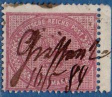 Germany 1875 - 2 Mark  Expertized Rehfeld Color B Lilac 2006.2209 Farben, Manuscript Cancel As Prescribed - Usados