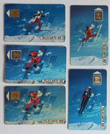 Lot De 5 Télécartes 16 èmes Jeux Olympiques D'hiver SKI JO Albertville 1992 France Telecom - Jeux Olympiques