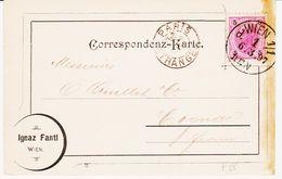 France, De Wien  En Passe Paris étranger En 1897, Pour Cognac TB - 1877-1920: Période Semi Moderne