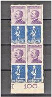 REGNO 1924 PUBBLICITARIO DE MONTEL QUARTINA ** MNH - 1900-44 Vittorio Emanuele III