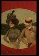 CPA  Elégante Et Son Prétendant ! Carte Postale Signée Raphaël KIRCHNER 1907 - Kirchner, Raphael