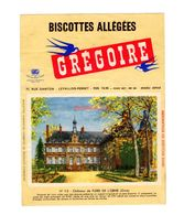 Buvard Biscottes Gregoire Levallois Perret Numero N 113 Chateau Flers Orne Monument Batiment - Biscottes