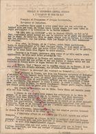 39/45 . AOF . MESSAGE DU GENERAL BOISSON . 1ER MAI 1943 - Documenti