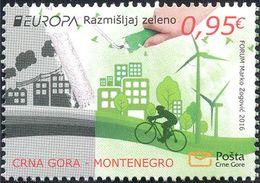 Montenegro 2016, Europa, Think Green, **, MNH - 2016