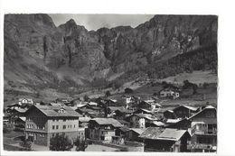 25542 - Leukerbad  Dorfpartie M. Schulhaus U.Gemmipass + Beau Cachet - VS Valais