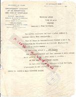 RAVITAILLEMENT DE L'ALLIER . 1942 . VINS DE BEAUNE . ATTRIBUTION - Documents Historiques