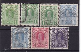 #12164 Norway, Norge 1910/1918, Full Set Some Doubles Used, Michel 89 - 92: King Haakon VII. - Norwegen