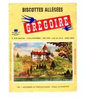 Buvard Biscottes Gregoire Levallois Perret Numero N 1507 Monuments Tchecoslovaquie Chateau Konopiste - Biscottes
