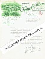 Lettre Illustrée 1950 WELLENSTEIN - Maison  FEIPEL-STAAR - Propriétaires-vignerons : Spécialités Vins De La Moselle - Luxembourg