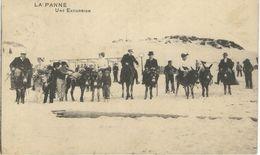 LA PANNE : Une Excursion - RARE VARIANTE - Cachet De La Poste 1913 - De Panne