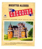 Buvard Biscottes Gregoire Levallois Perret Numero N 96 Chateau Brissac Maine Et Loire Monument Batiment - Biscottes