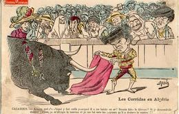 Illustrateur Assus, Les Corridas En Algérie Caricature - Altre Illustrazioni