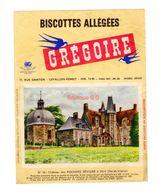 Buvard Biscottes Gregoire Levallois Perret Numero N 75 Chateau Rochers Sevigné Vitré Ille Vilaine Batiment Monument - Biscottes