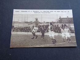 """Origineel Knipsel ( 4619 ) Uit Tijdschrift """" Zondagsvriend """"  1936  : Voetbal  Tubantia ( Borgerhout )   Turnhout - Vieux Papiers"""