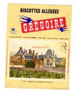 Buvard Biscottes Gregoire Levallois Perret Numero N 43 Chateau Moleans Eure Et Loire Batiment Monument - Biscottes