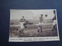 """Origineel Knipsel ( 4620 ) Uit Tijdschrift """" Zondagsvriend """"  1936  : Voetbal  Tubantia ( Borgerhout )   Tilleur - Vieux Papiers"""