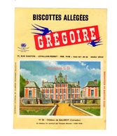 Buvard Biscottes Gregoire Levallois Perret Numero N 34 Chateau Balleroy Calvados Batiment Monument - Zwieback
