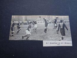 "Origineel Knipsel ( 4622 ) Uit Tijdschrift "" Zondagsvriend ""  1936  : Voetbal  R. C.  Borgerhout )   Hemixem Hemiksem - Vieux Papiers"