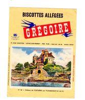 Buvard Biscottes Gregoire Levallois Perret Numero N 26 Chateau Costaeres Ploumanach Batiment Monument - Zwieback
