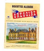 Buvard Biscottes Gregoire Levallois Perret Numero N 114 Chateau Pin Haras Orne  Batiment Monument - Zwieback
