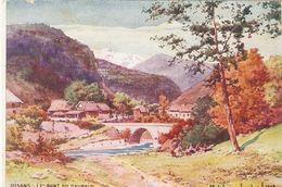 BOURG-D'OISANS . LE PONT DU DAUPHIN  .  MELCHIOR  1905  COULEUR - Bourg-d'Oisans