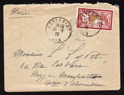 FRANCE: Timbre N° 121 (Merson) Seul Sur Lettre Ceyzeriat (Ain) En 1925 Pour L'Italie. TTB - Marcophilie (Lettres)
