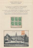 Page De Collection - Essai En Bloc De 6 Type Albert Ier (croix-rouge) Imprimé Sur Soie, Présenté à La Reine Elisabeth - Probe- Und Nachdrucke