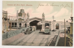 PARAGAY - Estacion De Ferro Carril Asuncion  / TRAIN LOCOMOTIVE GARE C597 - Paraguay