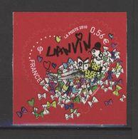 N° 386 Y.T. Neuf** Auto-adhésif Lanvin Coeur Saint Valentin 2010 - Luchtpost
